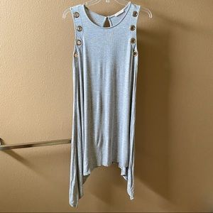 Promesa Gray Grommet Tank Dress
